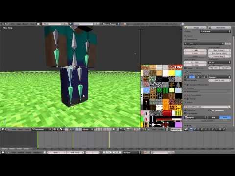 Minecraft Animation / Wallpaper in Blender erstellen – Animation und Abspeichern von Bildern