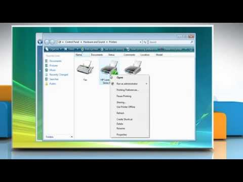 How to make printer a network printer on Windows® Vista PC