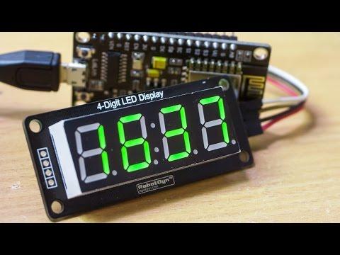 Часы на ESP8266 и TM1637 с синхронизацией с NTP сервером через интернет (видео)