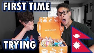 NEPALESE TRIES  JAPANESE CANDY! Unboxing & Tasting Tokyo Treat