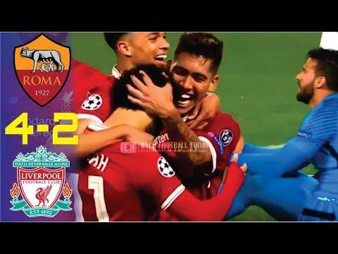 AS Roma vs Liverpool 4-2 (6-7) UCL Semi-Final 2nd Leg Pre-Match Discussion w/ English Com