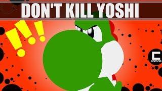 """3 Designs for """"Don't Kill Yoshi"""" Levels in Super Mario Maker."""