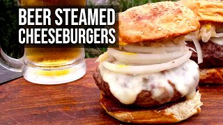 Beer Steamed Cheeseburger by the BBQ Pit Boys by BBQ Pit Boys