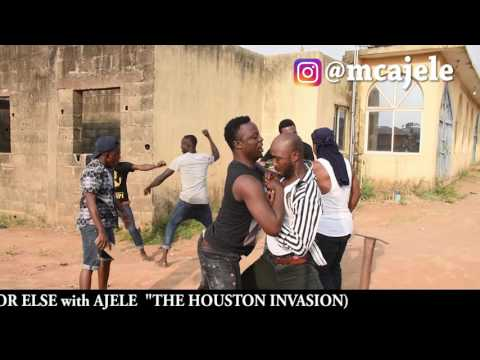 How Americans Vs Nigerians Fight By Mc Ajele ( Laugh Or Else Show In Houston, Texas)