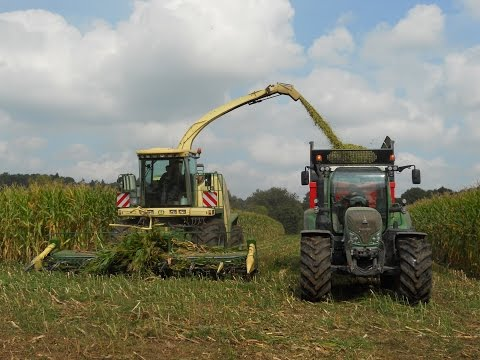 ensilage - FD CUMA MORBIHAN - BRETAGNE Ensilage maïs 2014 CUMA la Berricoise (Berric) Krône Big X 500 + Easycollect 6000 8 rangs Fendt 718 + Le Normand 16 To Fendt 718 ...