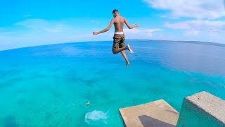 Siquijor Island Philippines  city images : SIQUIJOR ISLAND Philippines - CLIFF JUMPING into CRYSTAL CLEAR WATER