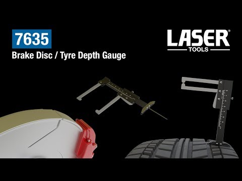 7635 Brake Disc/Tyre Depth Gauge