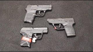 In this video we compare and 3 popular pocked pistols: The Ruge LCP II, the S&W Bodyguard and the Taurus TCP. I will do an...