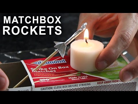 rocket - How to make rockets that shoot over 40 feet, with aluminum foil and a match. Free template: http://bit.ly/MatchboxRocketLauncherTemplate Post your pictures o...
