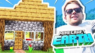 I Built My FIRST HOUSE in Minecraft Earth!