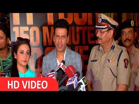 Manoj Bajpai & Divya Dutta At Trailer Launch Of Film Traffic
