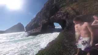 Coffee Bay South Africa  city photo : Hole in the Wall Jump - Coffee Bay, South Africa