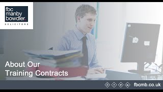 What to expect from a training contract at FBCMB