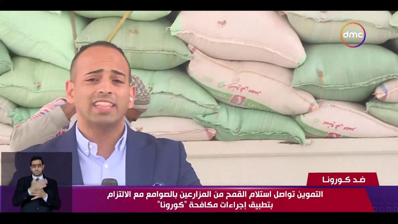 نشرة ضد كورونا - التموين تواصل استلام القمح من المزارعين مع الألتزام بتطبيق إجراءات مكافحة كورونا