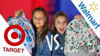 BACK TO SCHOOL HAUL/GIVEAWAY (Target vs Walmart) | Piper Rockelle