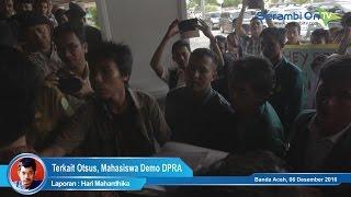 Terkait Otsus, Mahasiswa Demo DPRA