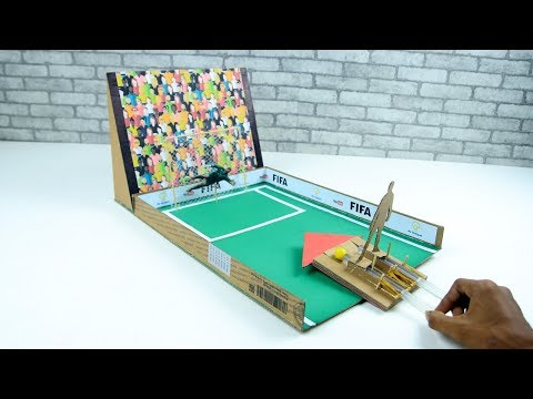 How To Make FIFA Penalty Football GAME From Cardboard DIY At Home World Cup 2018