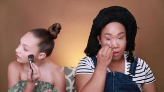 Makeup with PatrickStarrr!!!! || Maddie Ziegler