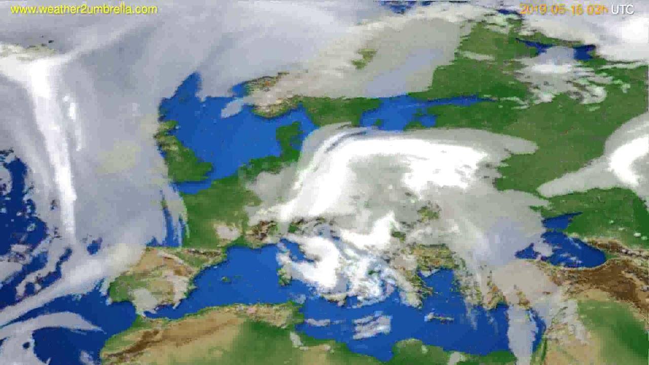 Cloud forecast Europe // modelrun: 00h UTC 2019-05-13