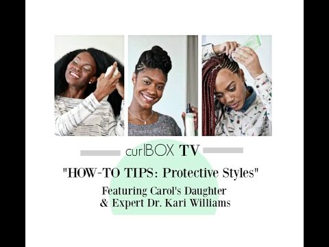 curlbox tv: protective style how-to tips feat. carol's daughter