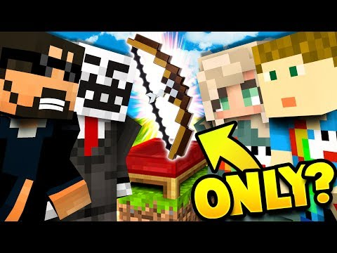 WE CAN ONLY USE A BOW CHALLENGE  Minecraft Bed Wars 4v4