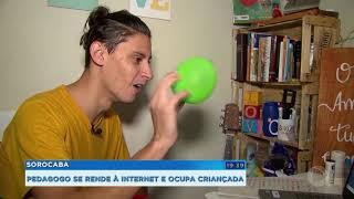 Sorocaba: pedagogo muda a rotina para alegrar crianças pela internet