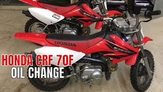 3. HONDA CRF 70F OIL CHANGE
