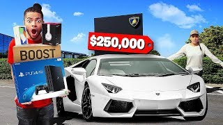 Video Who can SPEND the MOST MONEY in 24 Hours - Challenge MP3, 3GP, MP4, WEBM, AVI, FLV Maret 2019