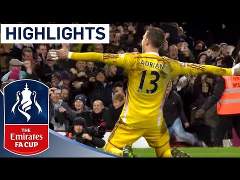 Full Shootout - West Ham 2-2 (9-8 Pen) Everton (2014/15 FA Cup R3) | Goals & Highlights