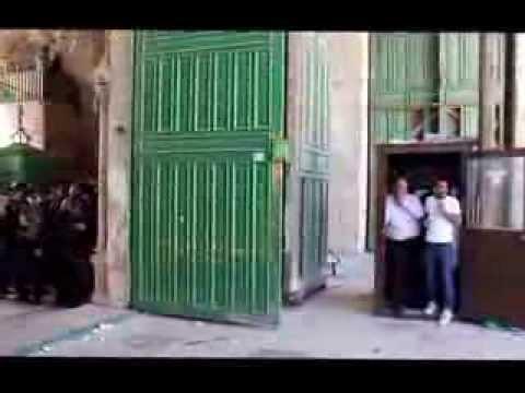 فيديو: اصابات واعتقالات في المسجد الاقصى المبارك 6 9 2013 الصحفية ديالا جويحان