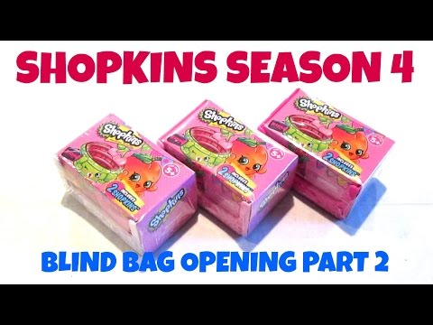 BRAND NEW! SHOPKINS SEASON 4 - BLIND BAGS - OPENING AND REVIEW PART 2