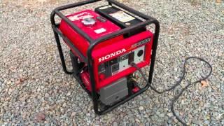 8. Honda EB3000c 3000 Watt 6.5 HP Generator Test