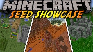 "Minecraft: Seed Showcase 1.8 - ""PYRAMID"" MESA Biome, Jungle Temple, Village all at SPAWN!"