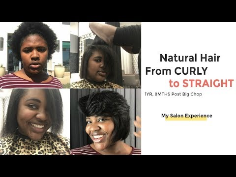 CURLY TO STRAIGHTNatural Hair Salon Experience