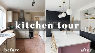 KITCHEN TOUR | BEFORE AND AFTER | KITCHEN RENOVATION & GARAGE CONVERSION