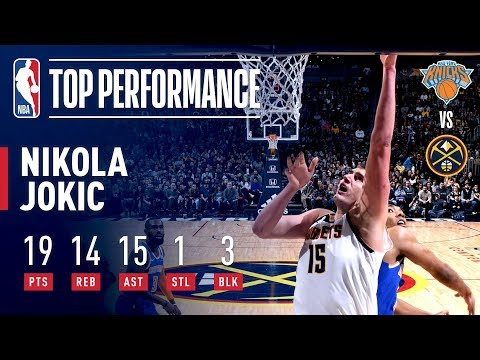 Video: Nikola Jokic Drops A TRIPLE-DOUBLE Against New York | January 1, 2019