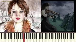 Кокаинетка - А. Вертинский (Пример игры на пианино, Ноты) (piano cover)