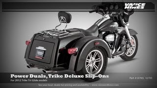 9. Power Duals, Trike Deluxe Slip-Ons, 2012 Harley Davidson Trike Tri Glide Ultra Classic FLHTCUTG