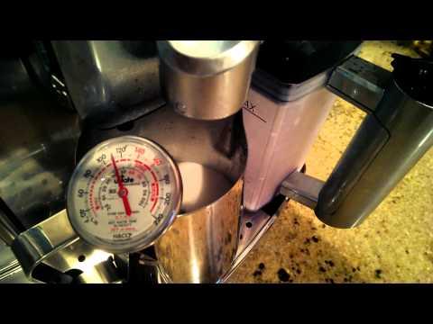 Gaggia Accademia Espresso Machine Temperature Test