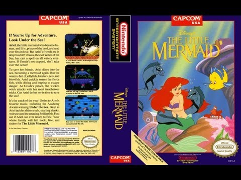 Disney's The Little Mermaid - NES Full Game Play (Полное прохождение)