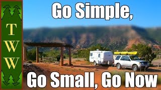 """""""Go Simple, Go Small"""" a quote from the sailing world that also applies to RVing.  You'll save time and money, reduce stress and increase freedom by getting the smallest RV that you're comfortable in.Chris & G Travels channel: https://www.youtube.com/user/tylerdurdeno9Music:Spacial Harvest by Kevin MacLeodLicensed under Creative Commons: By Attribution 3.0 http://creativecommons.org/licenses/by/3.0/"""