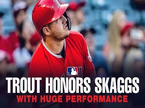 Video: Mike Trout honors Tyler Skaggs with an incredible performance