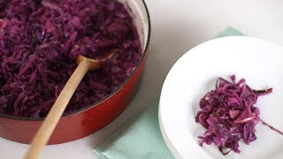 Braised Red Cabbage with Apple and Onion- Everyday Food with Sarah Carey by Everyday Food