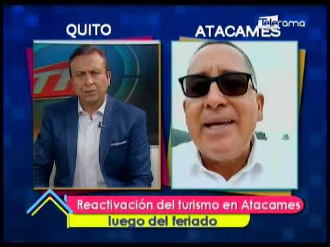Reactivación del turismo en Atacames luego del feriado