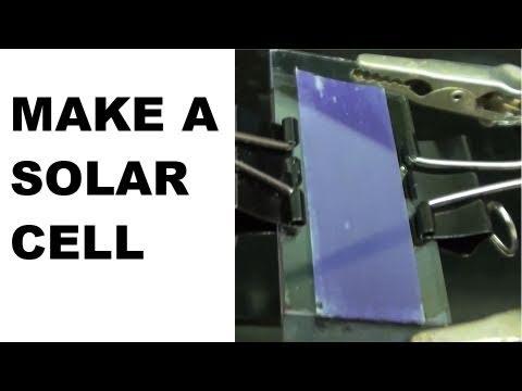Make a Solar Cell - TiO2/Raspberry based