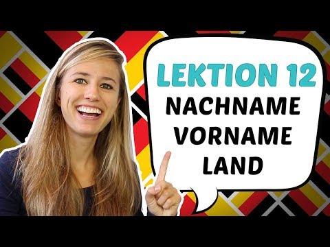 GERMAN LESSON 12: Personal data in German - die PERSONALIEN (видео)