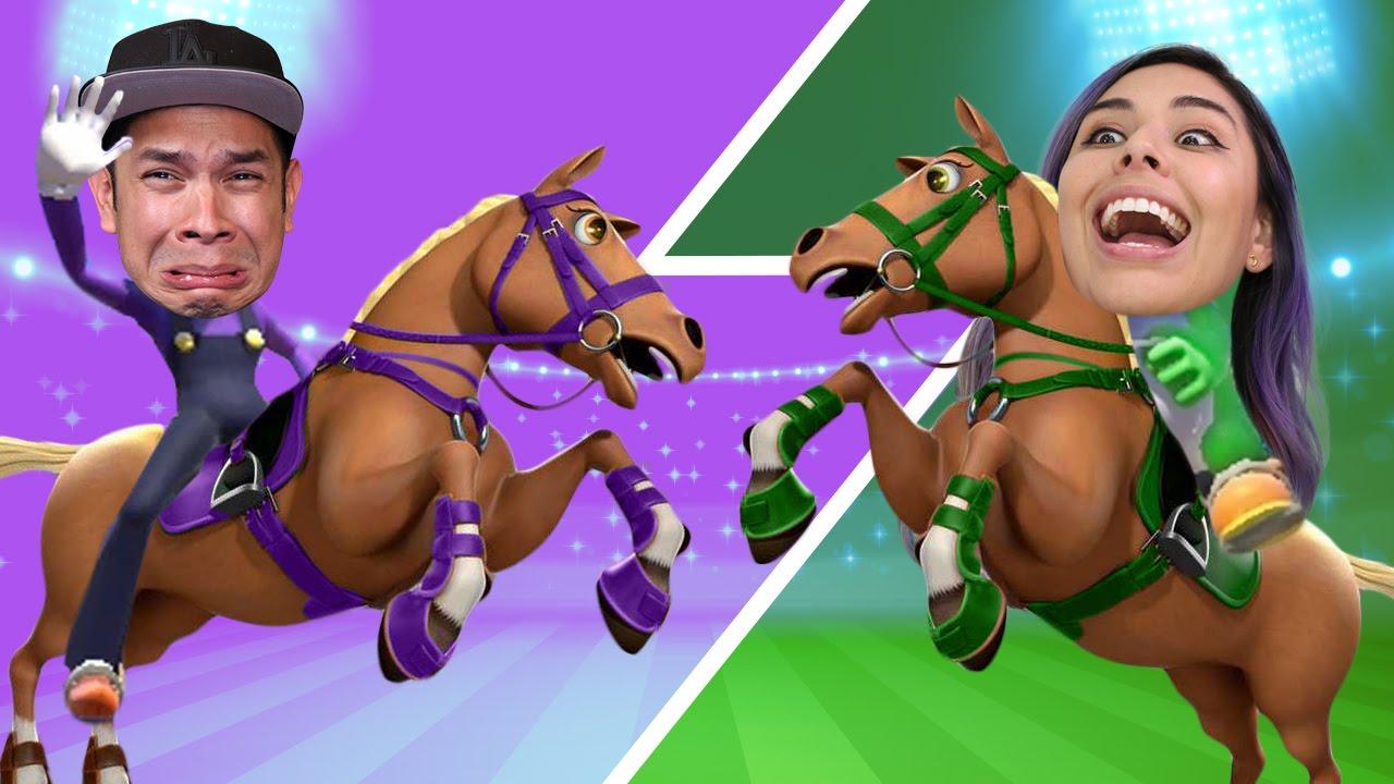 HORSE JOCKEYS! Husband vs Wife – Mario & Sonic Rio Olympics 2016