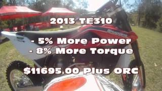 6. Darren Smart Tests the 2013 Husqvarna TE250 and TE310