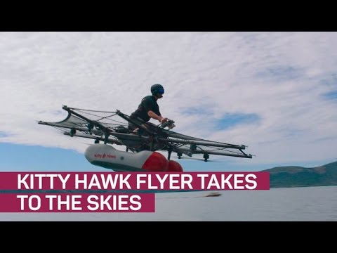 Larry Page shows off crazy 'flying car' Kitty Hawk (CNET News) (видео)