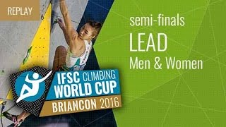 (LIVE) IFSC Climbing World Cup Briançon 2016 - Lead - Semifinals - Men/Women by International Federation of Sport Climbing